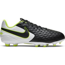Zapatillas de fútbol Nike Tiempo Legend 8 Academy FG / MG Jr AT5732-007 negro negro