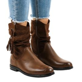 Botas planas de mujer con aislamiento marrón 2956