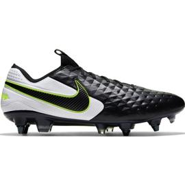 Calzado de fútbol Nike Tiempo Legend 8 Elite Sg Pro Ac M AT5900 007 negro blanco, negro, verde