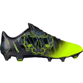 Zapatillas de fútbol Puma evoPOWER 1.3 Graphic Fg M 103769 01 negro verde multicolor