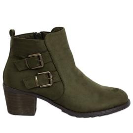 Botas de tacón verde K1809305 Caqui