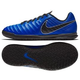 Zapatillas de fútbol Nike Tiempo Legend 7 Club Ic Jr AH7260 400 azul azul marino