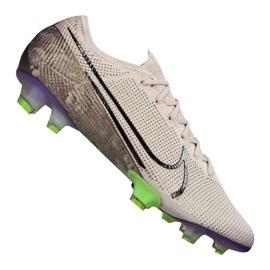 Zapatillas de fútbol Nike Vapor 13 Elite Fg M AQ4176-005 blanco, gris / plateado gris
