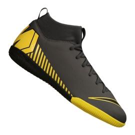Zapatillas de interior Nike Mercurial SuperflyX 6 Academy Gs Ic Jr AH7343-070 negro amarillo gris