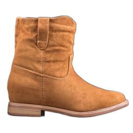 Detalles de Seastar Botas planas beige marrón | Boots, Beige