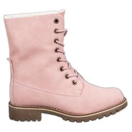 SHELOVET Zapatillas Con Parte Superior Enrollable rosa