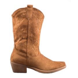Seastar Slip-on botas vaqueras con patrón marrón