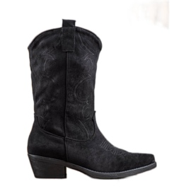 Seastar Slip-on botas vaqueras con patrón negro