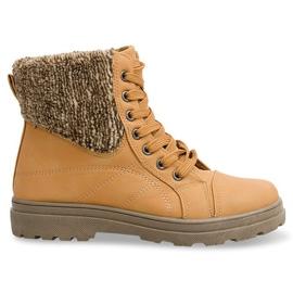 Botas Timberki con piel de oveja 368 Camel marrón