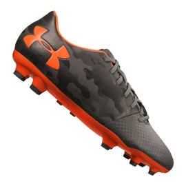 Zapatillas de fútbol Under Armour Spotlight Dl Fg M 1289534-101 gris gris, naranja