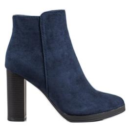 Ideal Shoes Tacones altos clásicos azul
