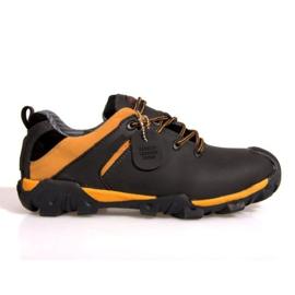 Botas de trekking de cuero NAT. 6254 negro