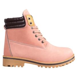 SHELOVET Botas de plataforma cálida rosa