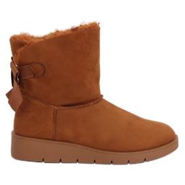 Botas de nieve para mujer camel A-3 Camel marrón