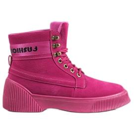 Yes Mile Botas de moda anudadas rosa