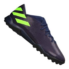 Adidas Nemeziz Messi 19.3 Tf M EF1809 calzado púrpura, verde púrpura