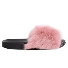 Zapatillas rosas con piel rosa CK107P Rosa