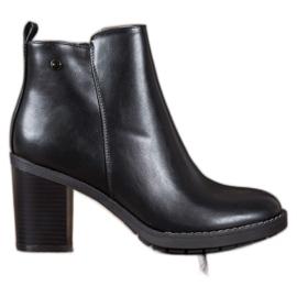 Ideal Shoes Tacones cómodos negro