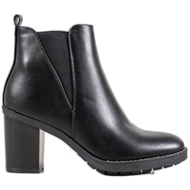 Ideal Shoes Botas cómodas negro