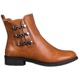 SHELOVET Elegantes botas Jodhpur marrón