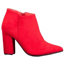 Marquiz Botas sexy con cremallera rojo