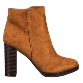 Super Me Botas de ante de moda marrón
