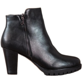 Anesia Paris Botines elegantes con cuero ecológico negro