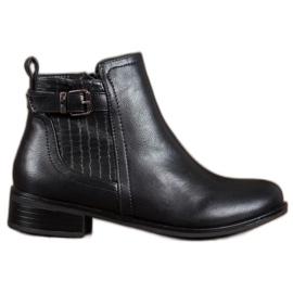 Nio Nio Botas de moda con hebilla negro