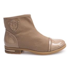 Botas elegantes, zapatos 1956 Khaki marrón