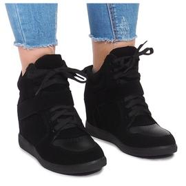 Zapatillas con cuña LA-70 Negro