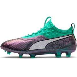Zapatillas de fútbol Puma One 1 Il Lth Fg Ag M 104925 01 verde