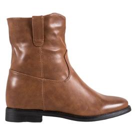 Ideal Shoes Botas Vaqueras Con Cuero Ecológico marrón