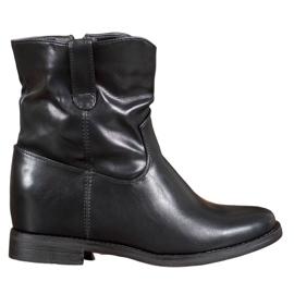 Ideal Shoes Botas Vaqueras Con Cuero Ecológico negro