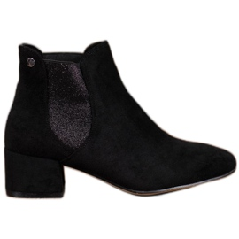 Ideal Shoes Botas Jodhpur con purpurina negro