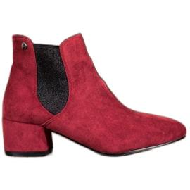 Ideal Shoes Botas Jodhpur con purpurina rojo