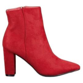Super Me Botines de tacones altos sexy rojo