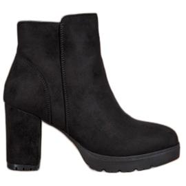 Super Mode Botines de moda negro
