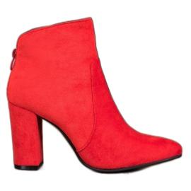 Ideal Shoes Botines Clásicos rojo