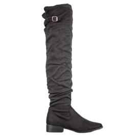 SHELOVET Elegantes botas sobre la rodilla negro