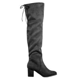Clowse Botas de gamuza elegantes negro