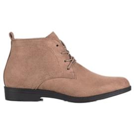 Goodin Botas de ante cómodas marrón