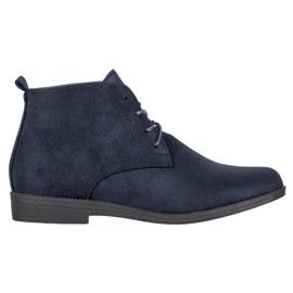 Goodin Botas de ante cómodas azul
