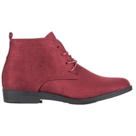 Goodin Botas de ante cómodas rojo