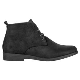 Goodin Botas de ante cómodas negro