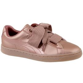Zapatillas Puma Basket Heart Copper W 365463-01 rosa
