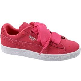 Zapatillas Puma Suede Heart Jr 365135-01 rojo