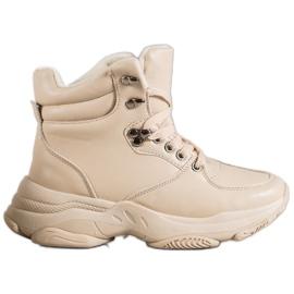 Ideal Shoes Zapatillas Eco Leather marrón