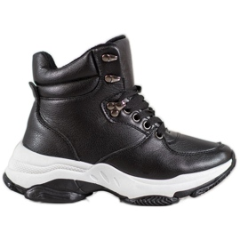 Ideal Shoes Zapatillas Eco Leather negro
