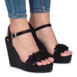 Sandalias de cuña Allane negras negro