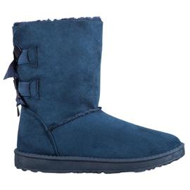 Haver Botas de nieve cálidas con lazos azul